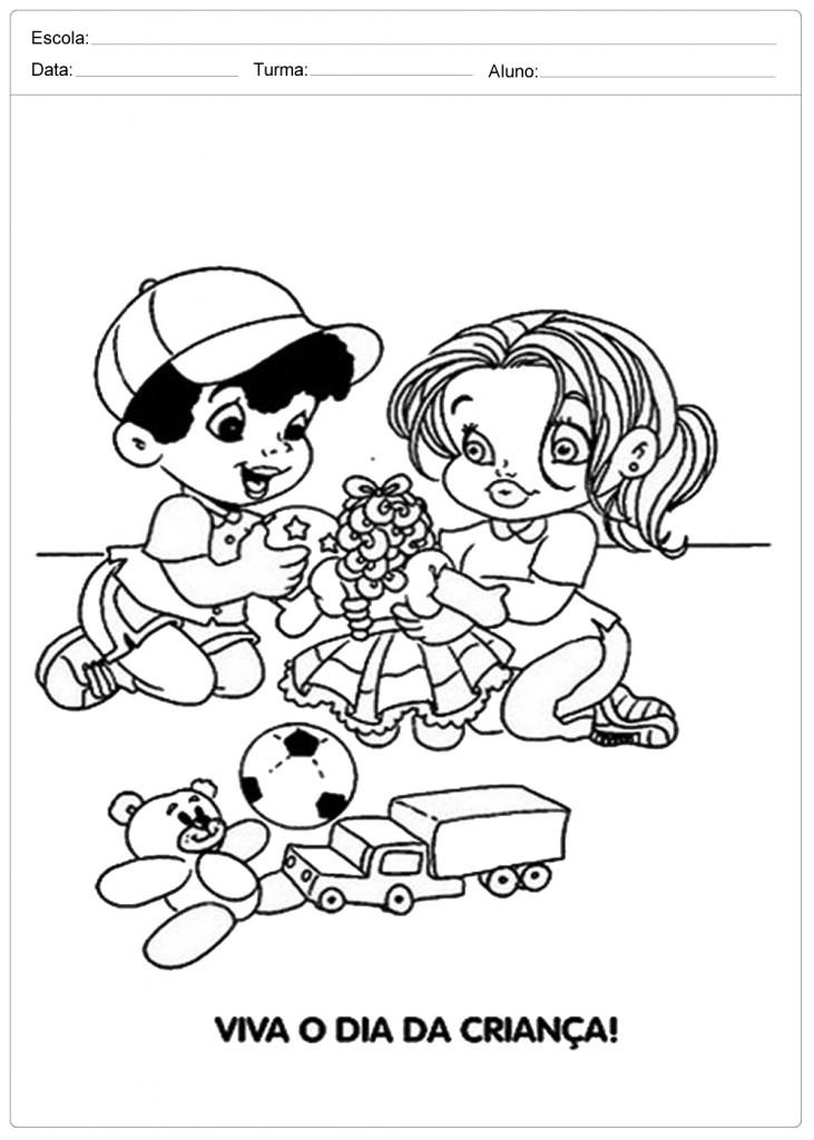 Desenhos Para Colorir Dia Das Criancas Atividades