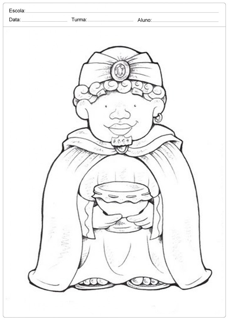 Moldes para Presépio - Rei Mago