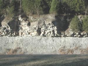 Rocha xisto coberto por calcário