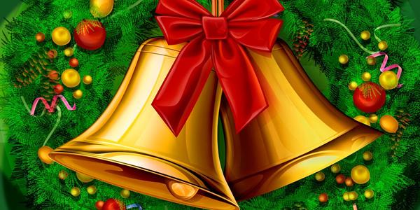 Sinos de Natal para Colorir