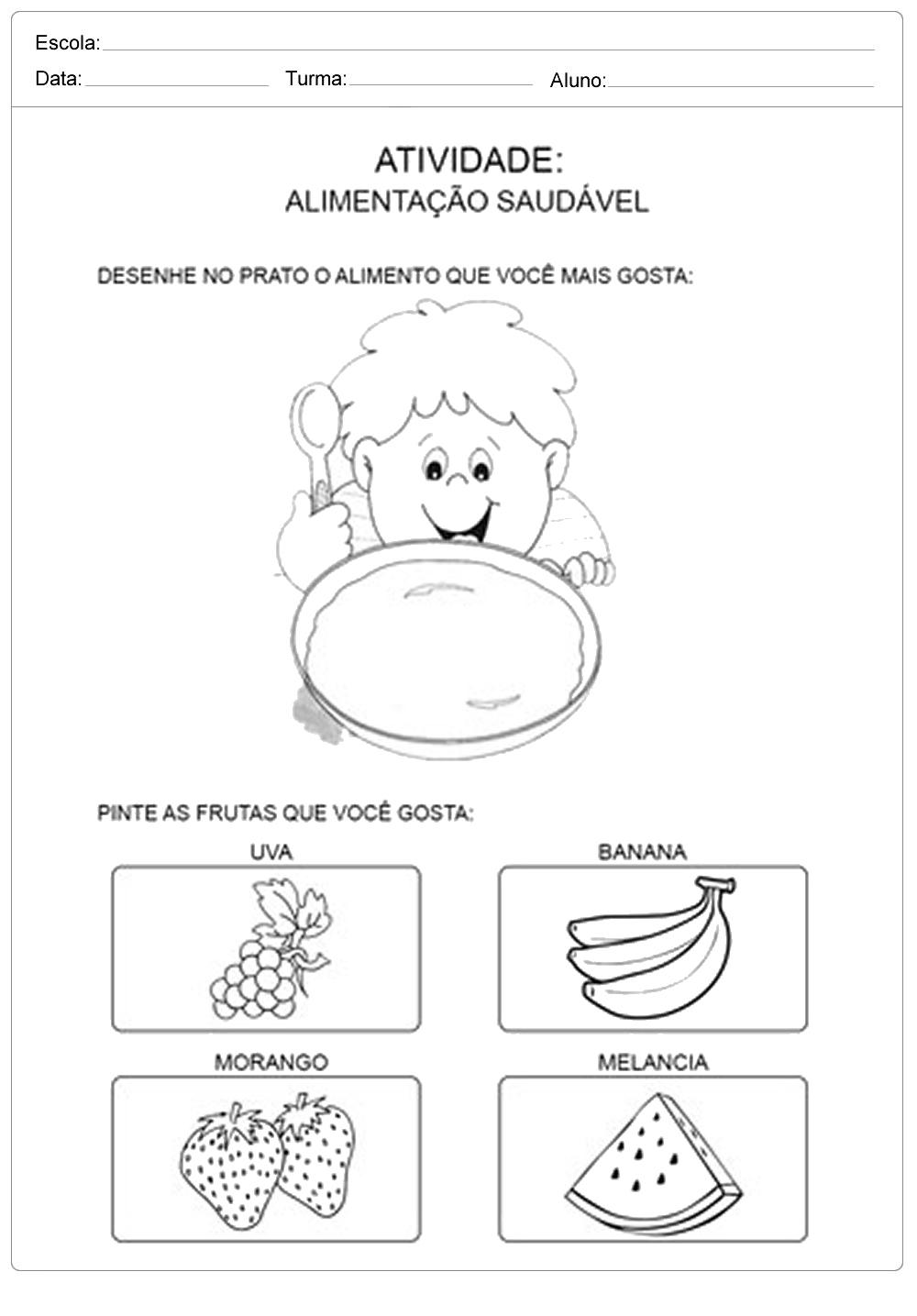 Alimentação Saudável Desenhe