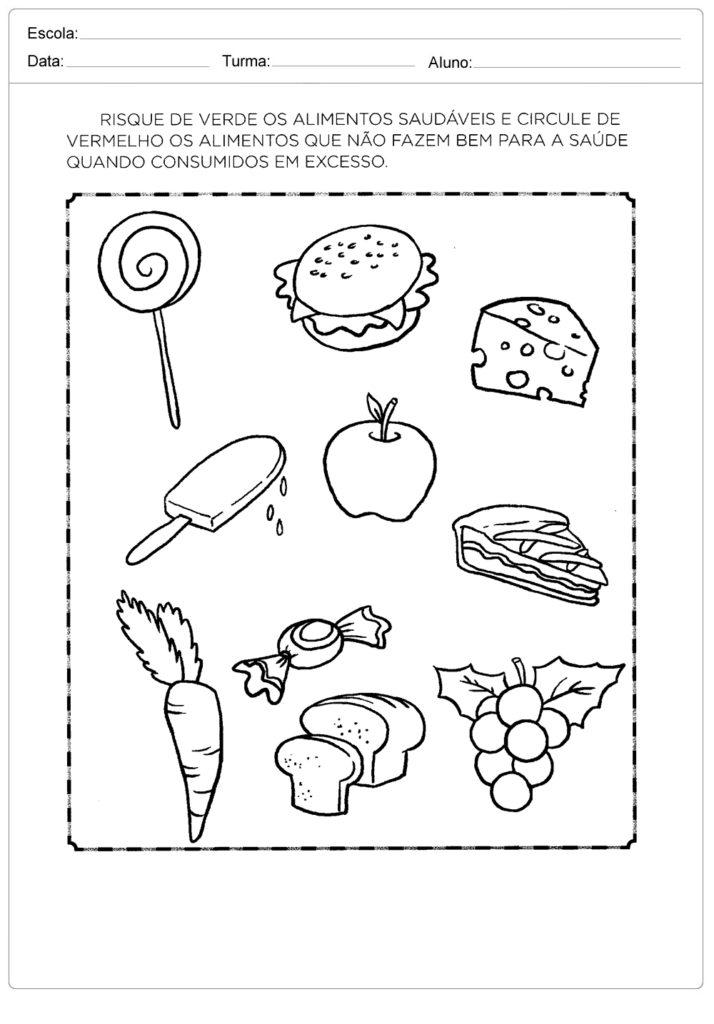 Favoritos Atividades de Alimentação Saudável Para Imprimir - Atividades  IV51