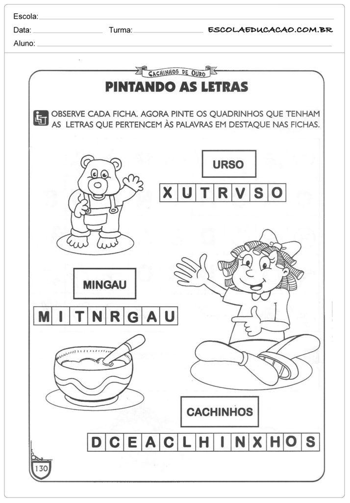 Atividades Cachinhos Dourados E Os Tres Ursos Para Imprimir