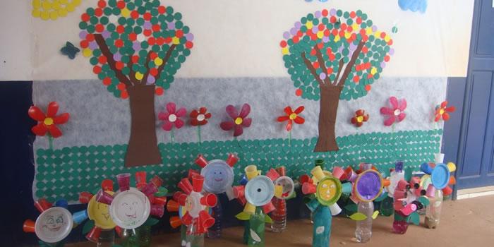 Flores feita de Copinhos