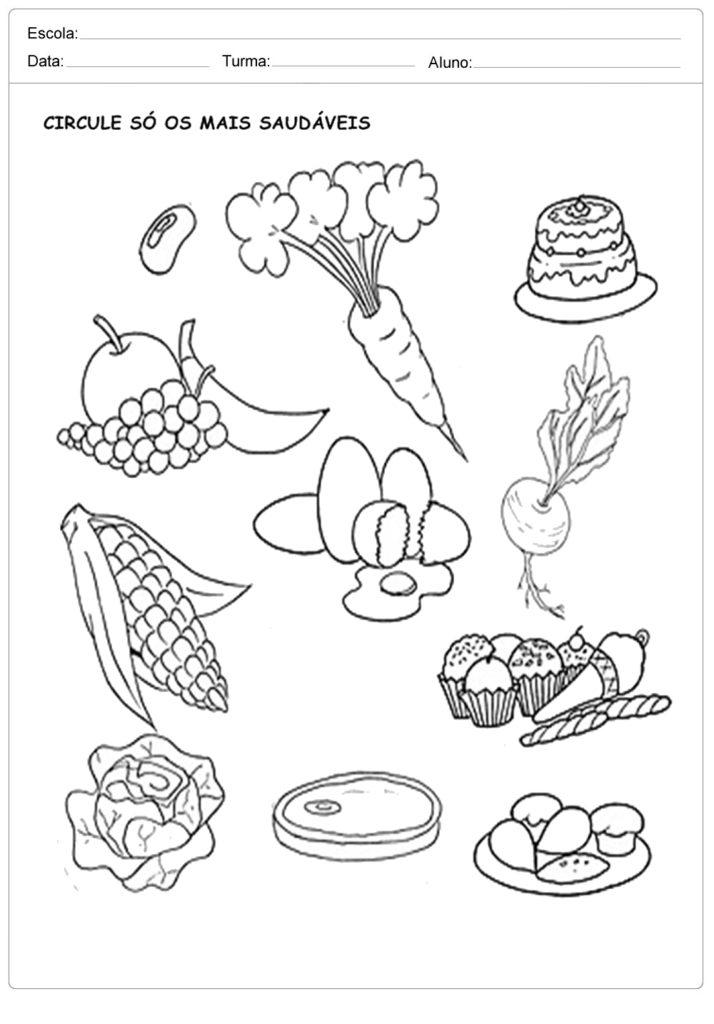 Muito Atividades sobre Alimentação para Educação Infantil - Para Imprimir AN71