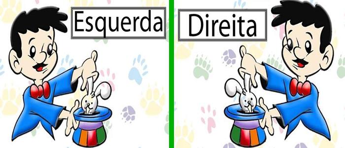 Direita e Esquerda - Atividades educativas