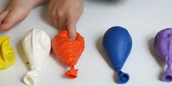 Preencha os balões com diferentes texturas