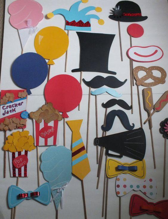Projeto Circo - Acessórios divertidos com o tema circo