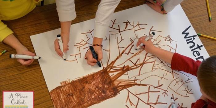 Desenhando uma árvore do inverno