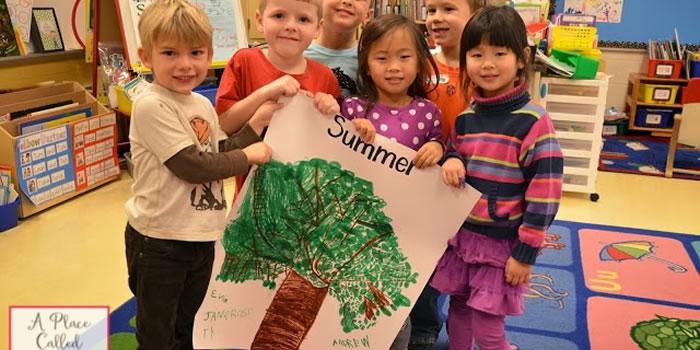 Desenhando uma árvore do verão