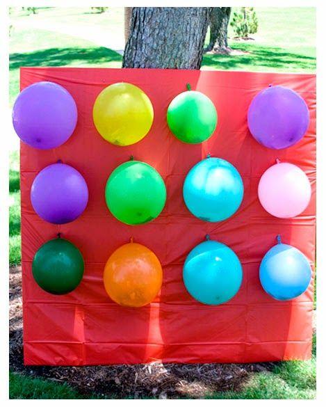 Atividade de festa junina com balão