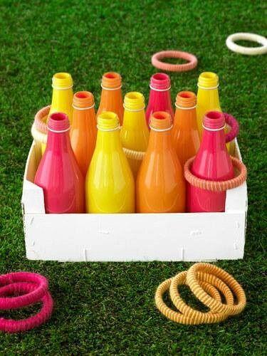 Ideia de jogo com garrafas para festa junina