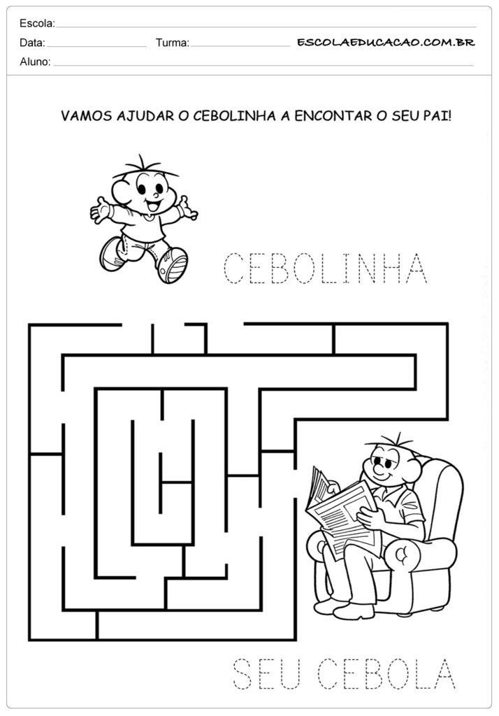 Atividades Dia dos Pais para Educação Infantil - Labirinto