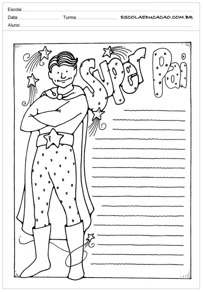 Atividade Dia dos Pais Ensino Fundamental - Super pai