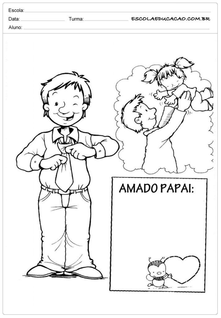 Atividades Dia dos Pais para Maternal - Amado Papai