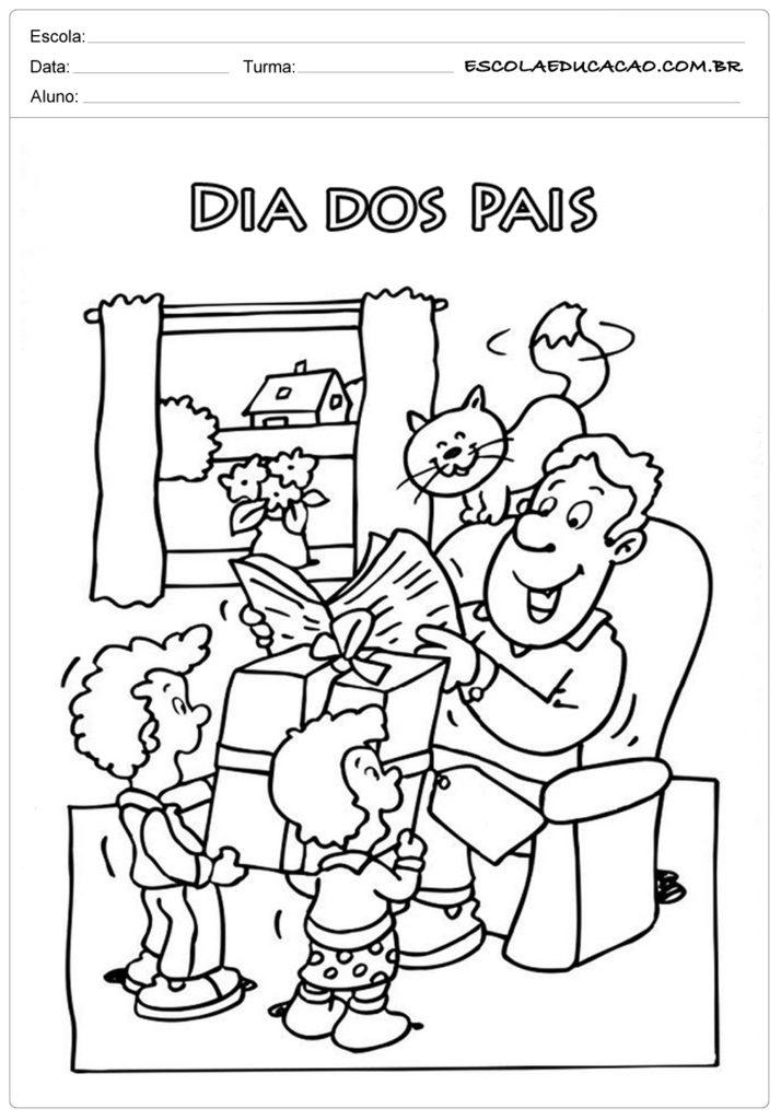 Atividades Dia dos Pais para Maternal - Para colorir
