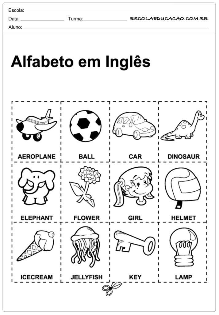 Atividades de inglês para educação infantil - Alfabeto em inglês