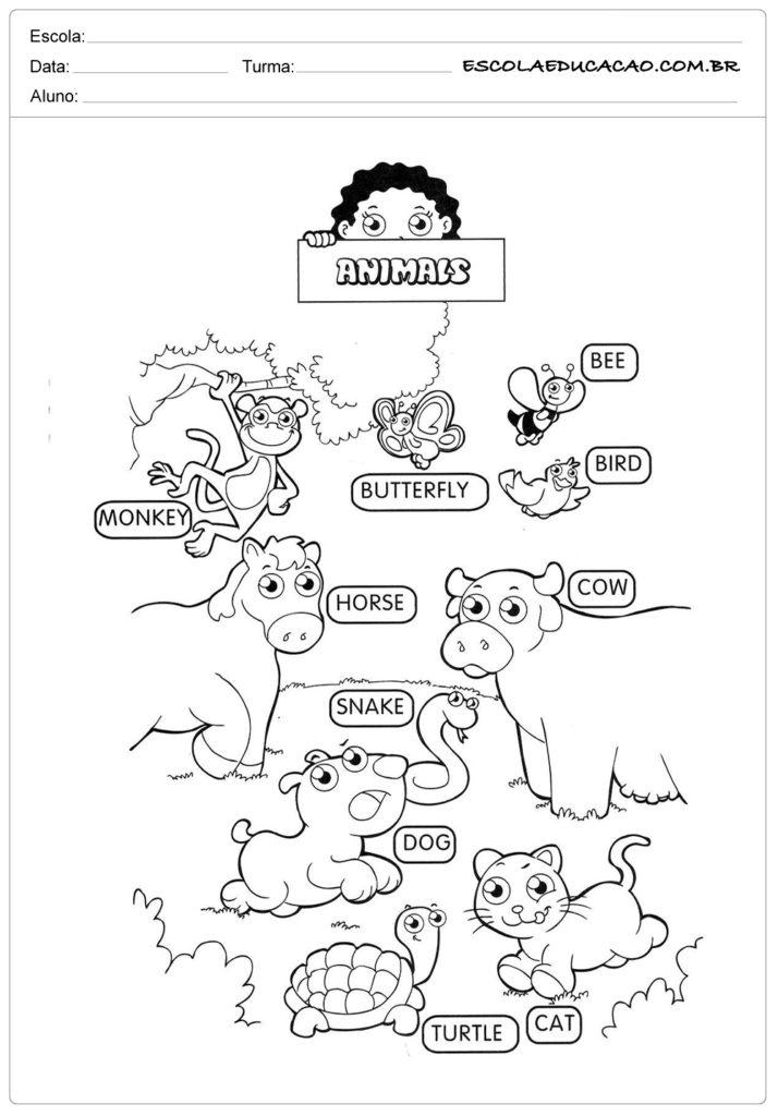 Famosos Atividades de Inglês para Educação Infantil prontas para Imprimir ER62