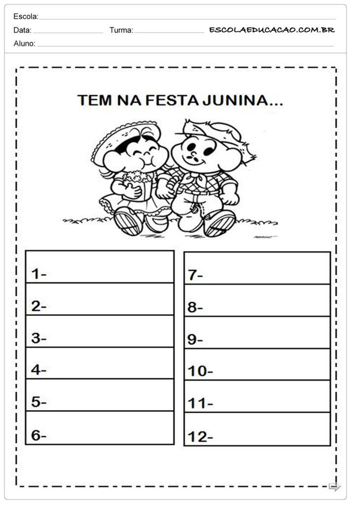 Atividades Festa Junina para o 1º ano - O que tem na festa junina?