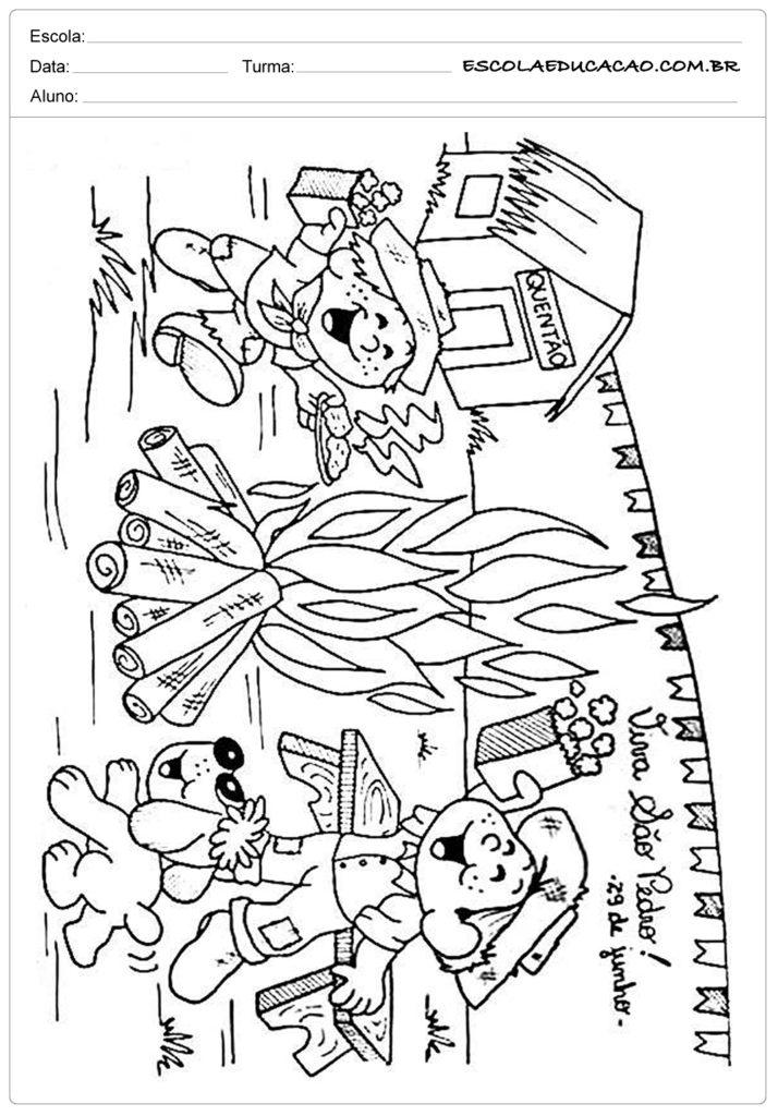 Atividades Festa Junina 2º ano - Para colorir