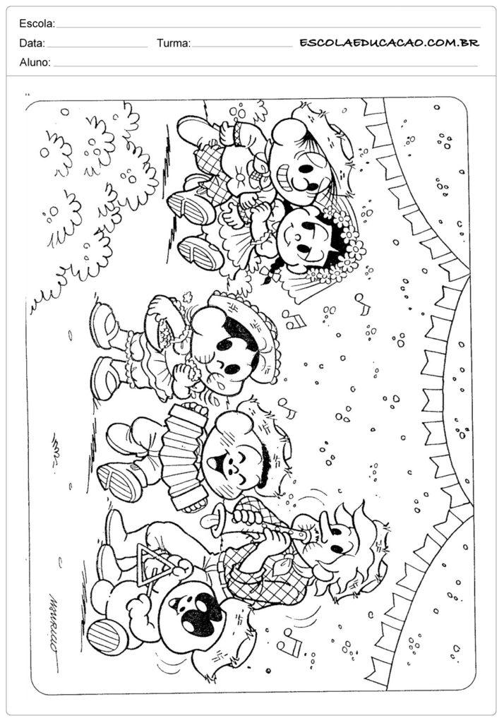 Atividades Festa Junina 3º ano - Para colorir