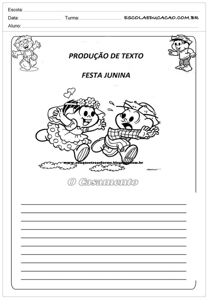 Atividades Festa Junina 4º ano - Produção de texto