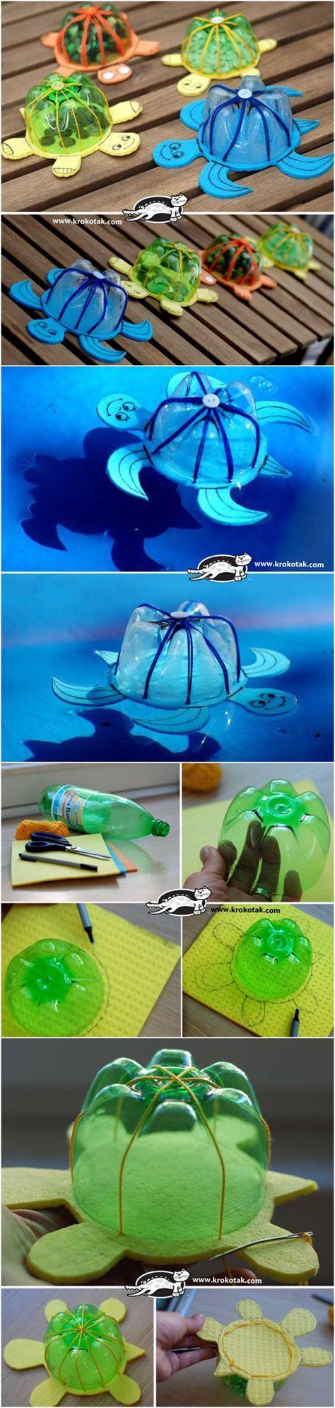 Projeto animais - Tartaruga com material reciclado