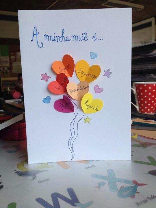 Projeto dia das mães - Cartão para a mamães