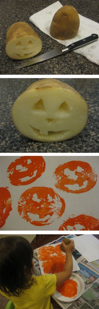 Projeto Halloween - Carimbo de abóbora