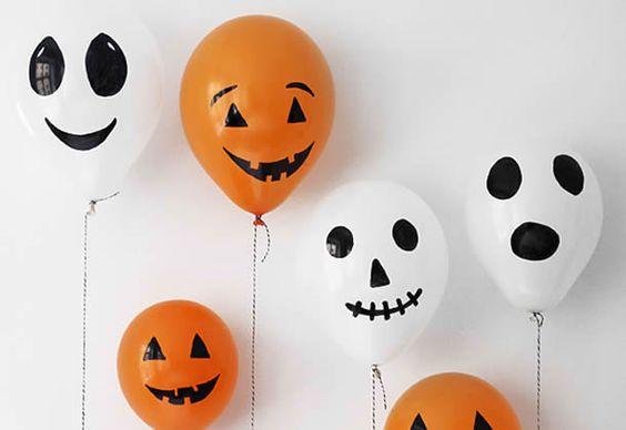 Projeto Halloween - Decoração com balões