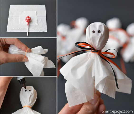 Projeto Halloween - Lembrancinha de fantasma