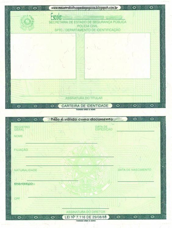 Projeto Identidade - Carteira de Identidade