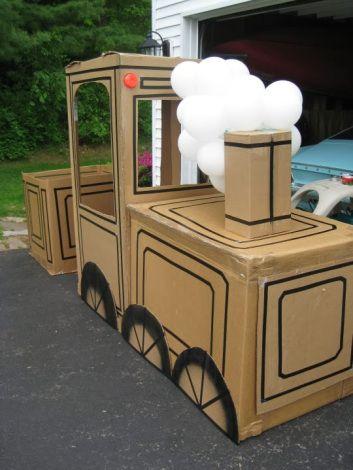 Projeto Meios de Transporte - Trem feito de caixa de papelão