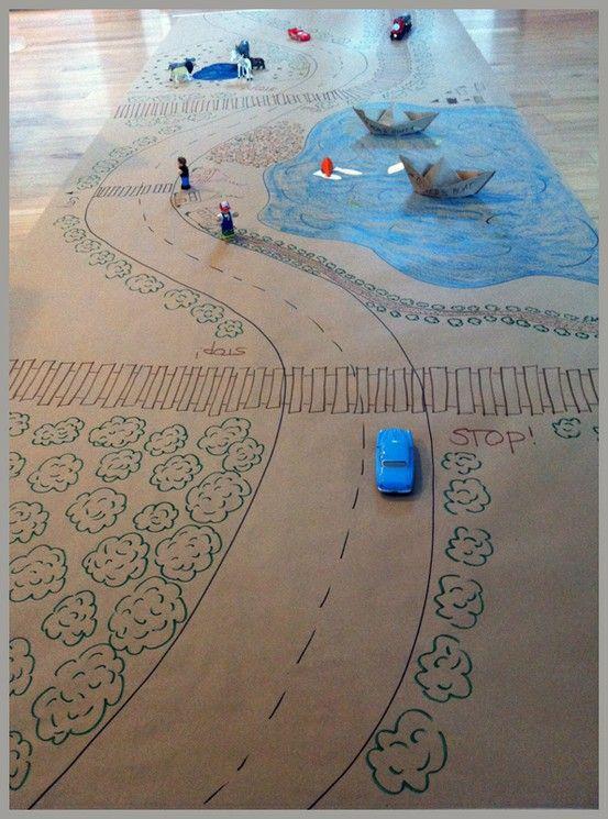 Projeto Meios de Transporte - Maquete com diferentes meios de transporte