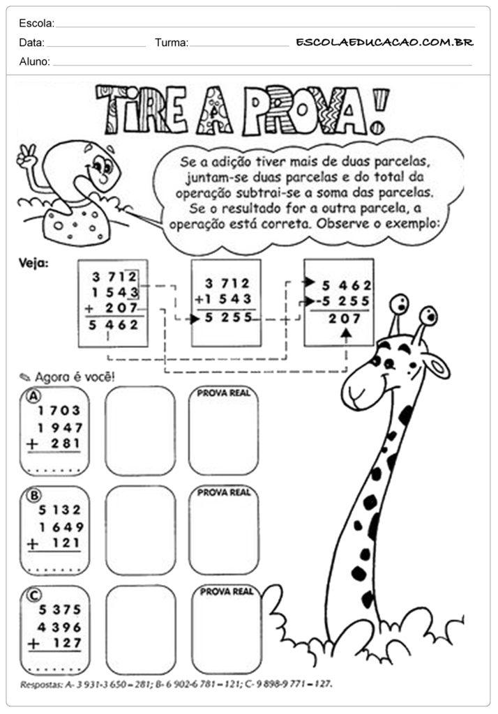 Atividades com números decimais tire a prova