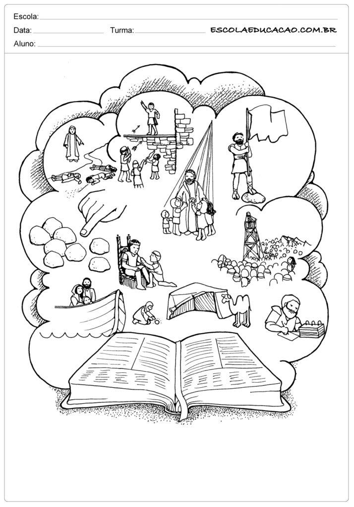 Atividades ensino religioso para colorir
