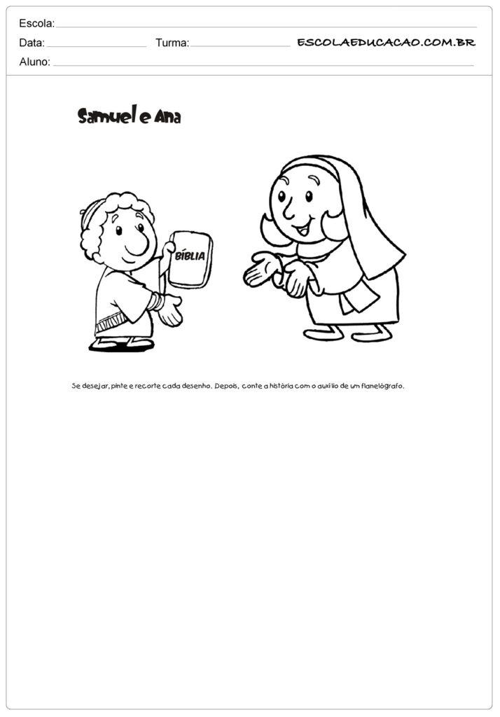Atividades ensino religioso Samuel e Ana