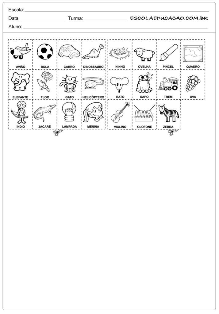 Exercícios para memória para imprimir