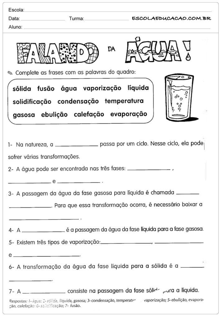 Atividades De Ciências 5º Ano Atividades Educativas Escola Educação