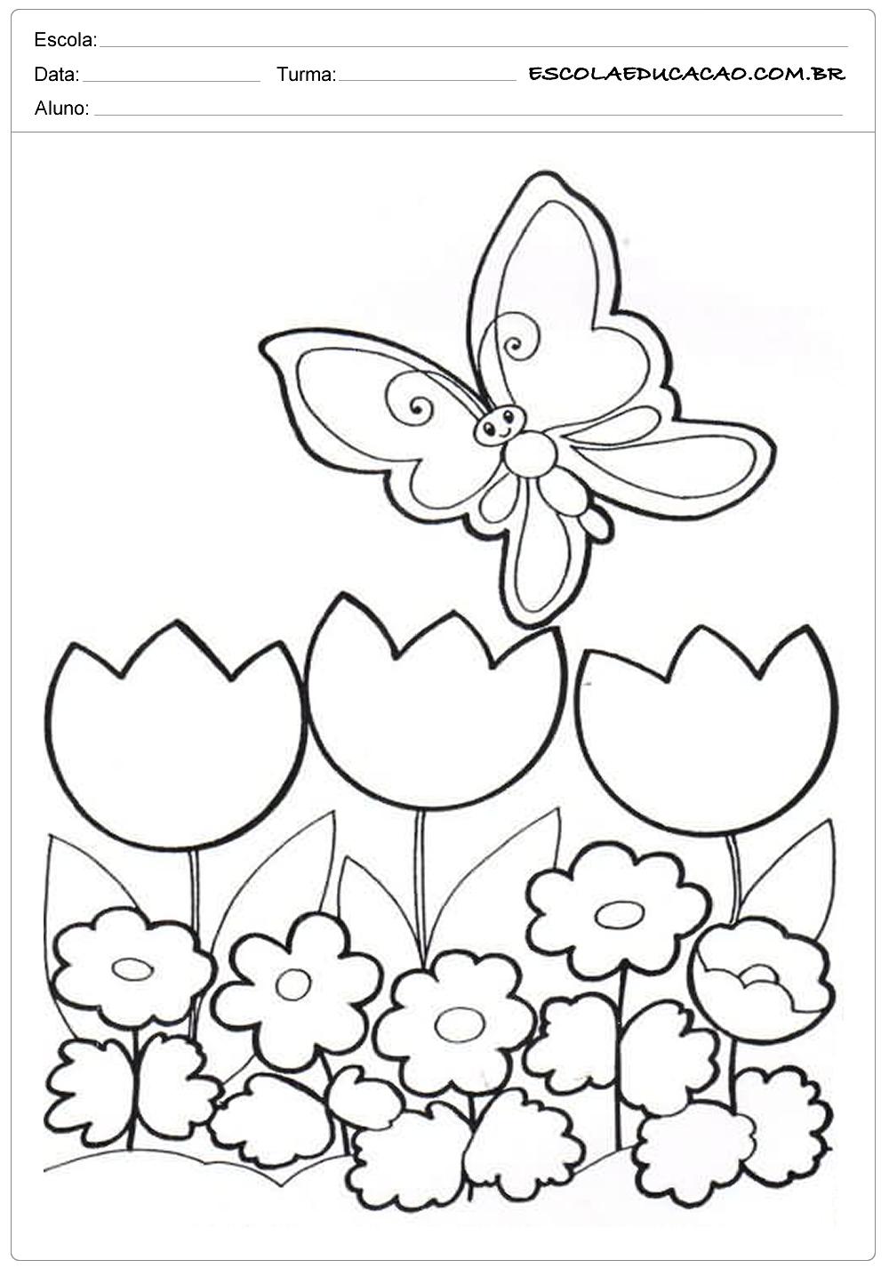 Moldes para primavera com flores