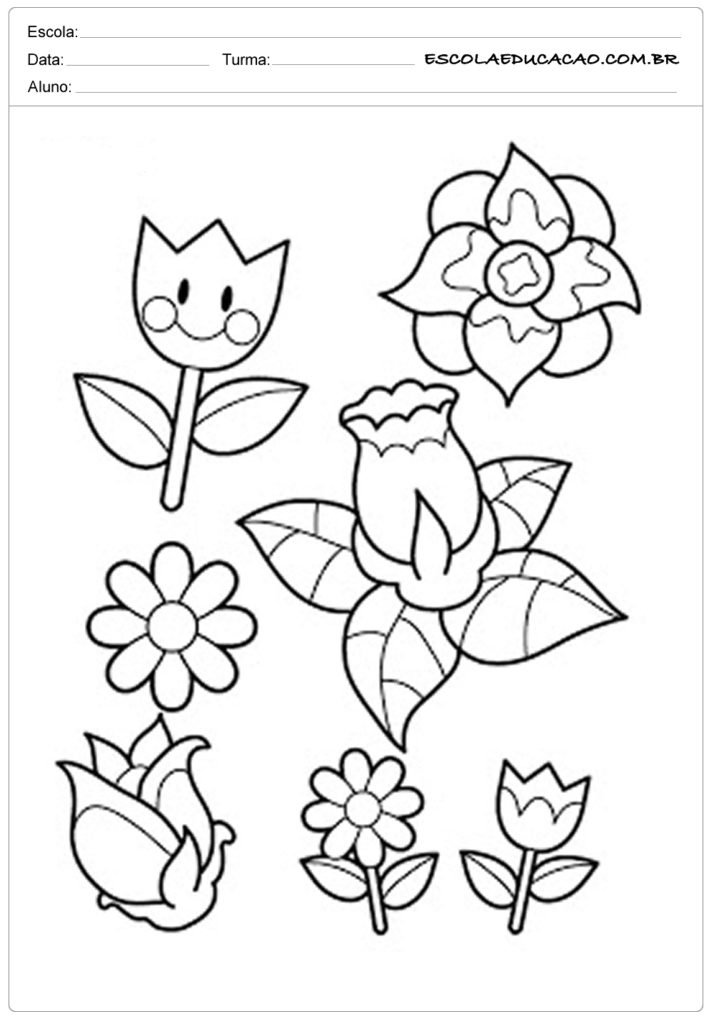 Moldes para primavera de flores