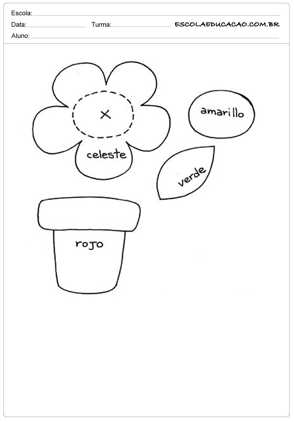 Moldes para primavera vaso de flores