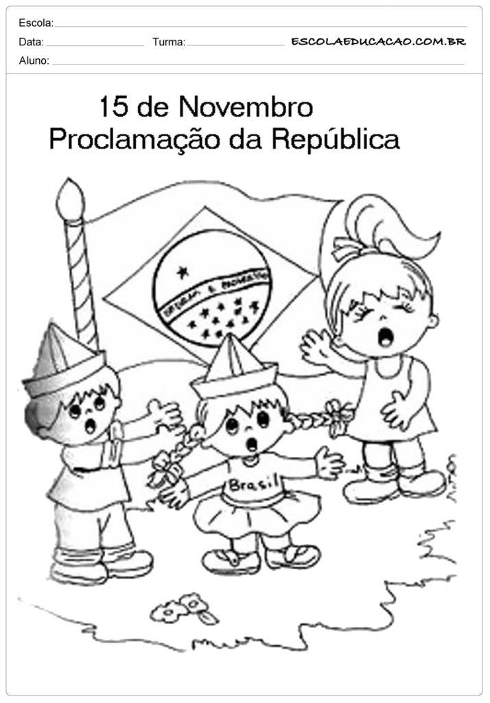 Atividades Proclamação da República 1° ano