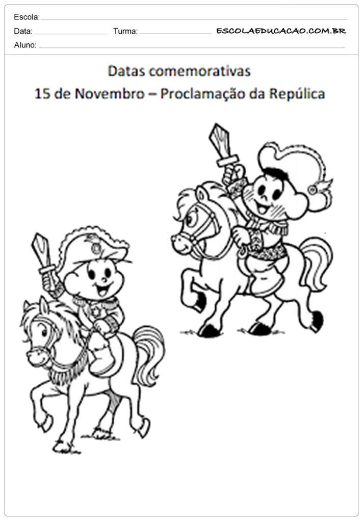 Atividades Proclamação da República 1° ano datas comemorativas