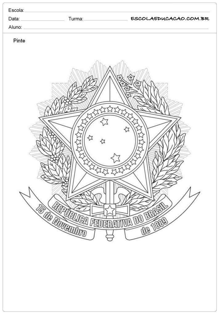 Atividades Proclamação da República 3° ano pinte