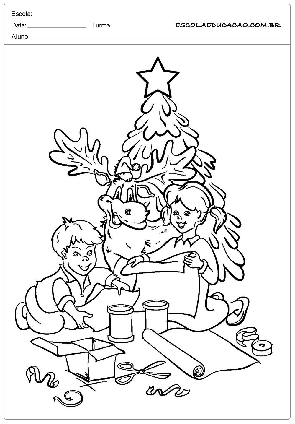 Atividades de natal para imprimir para colorir