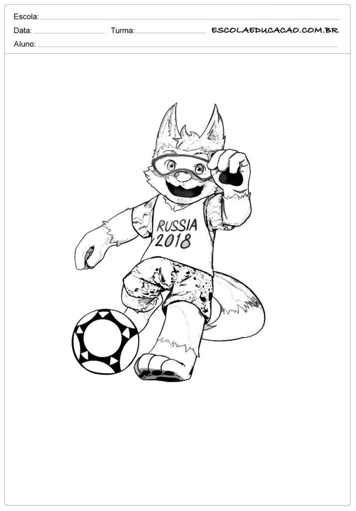 Atividades Sobre A Copa Do Mundo Para Colorir Escola Educacao