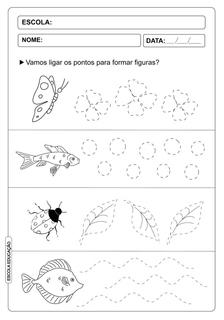 Atividade Pontilhada - Alfabetização