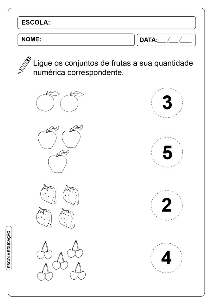 Atividades de Alfabetização Matemática - Números Conjuntos