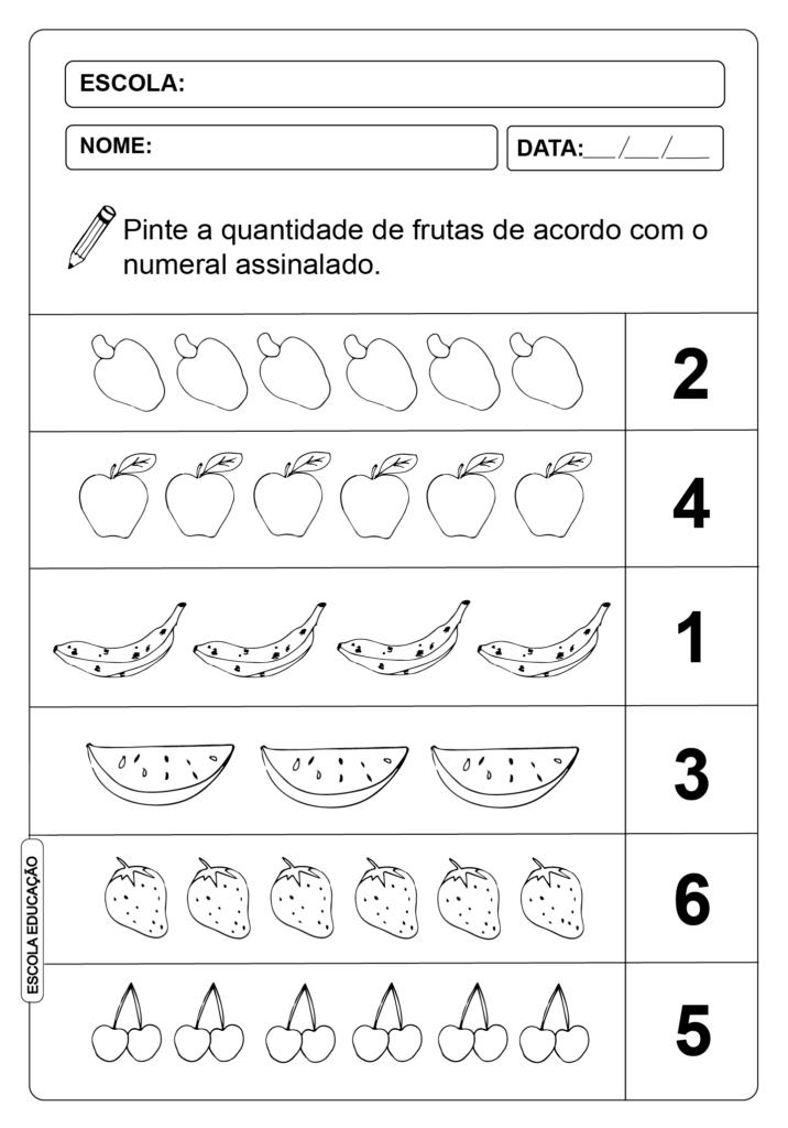 Atividades de Alfabetização Matemática - Fazer o que se pede